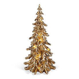 Pre-lit Gold Branch Tree Decor