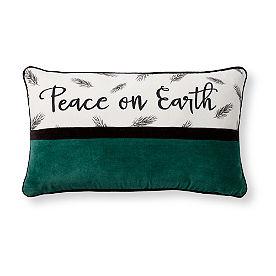 Peace on Earth Velvet Pillow