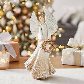 Ethereal Angel Figure, Wreath