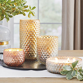 Honeycomb Glass Candles