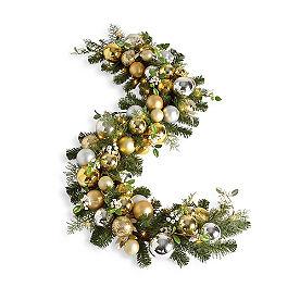 Metallic Holiday Tradition Cordless Garland