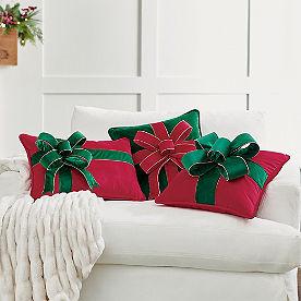 Christmas Bow Pillow