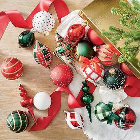 Classic Christmas Ornaments, Set of 20
