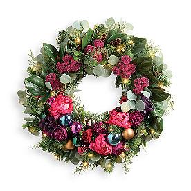 Eve of Christmas Cordless Wreath