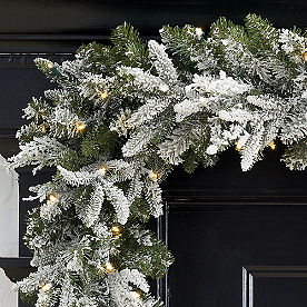 Frosted Fraser Cordless Garland