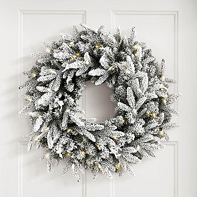Frosted Fraser Cordless Wreath