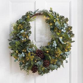 Home Sweet Home Cordless Horseshoe Wreath