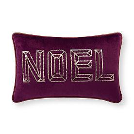 Noel Jewel Tone Christmas Pillow