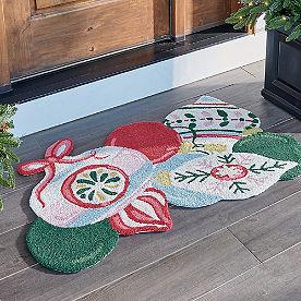 Ornament Cluster Hooked Door Mat