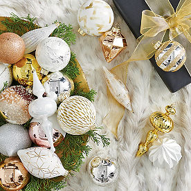Sparkly All Over Ornaments, Set of 20