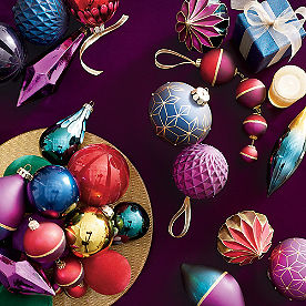 Sugarplum and Pine Ornaments, Set of 20