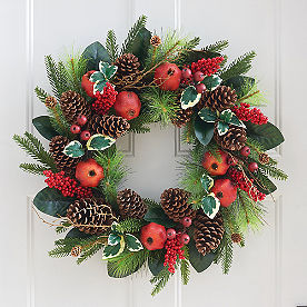 Pine and Pomegranate Wreath