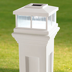 Solar-powered Mail Post Light