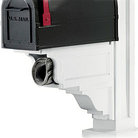 Signature Plus Mail Post with Newspaper Holder