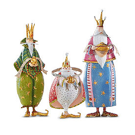 Set of Three Magi Nativity Figures
