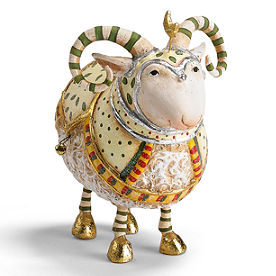 Ram Manger Nativity Figure