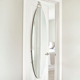 Over-door Beveled Door Mirror