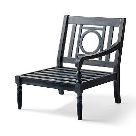 Yorkshire Left-facing Armchair in Weathered Black