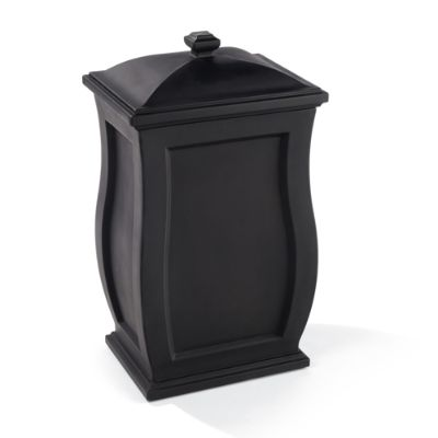 decorative outdoor garbage cans.  Devon Trash Can with Lid Grandin Road