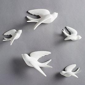 Birds of Flight Wall Art, Set of Five