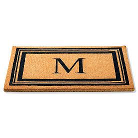 Classic Monogrammed Coir Border Door Mat