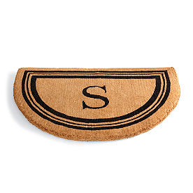 Monogrammed Coco Border Half-Round Doormat