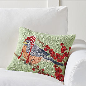 Winter Wonderland Pillow, Bird