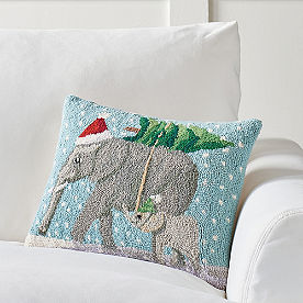 Winter Wonderland Pillow, Elephants