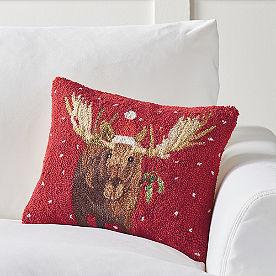 Winter Wonderland Pillow, Mooseltoe