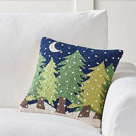 Winter Wonderland Pillow, Trees