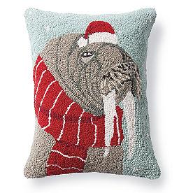 Walrus Winter Wonderland Pillow