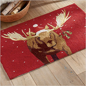Winter Wonderland Horizontal Mooseltoe Rug