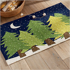 Winter Wonderland Trees Rug