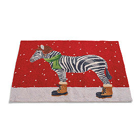 Zebra Winter Wonderland Rug