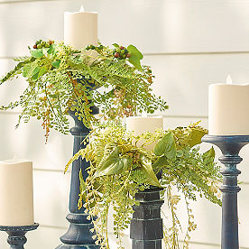 Garden Vine Candle Rings, Set of Five