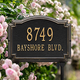 Williamsburg Standard-Size Lawn Address Plaques