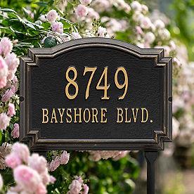 Williamsburg Standard-size Lawn Address Plaque