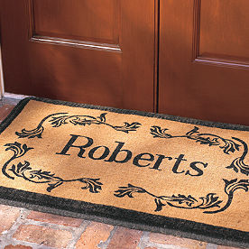 Leaf Monogram Coir Door Mat