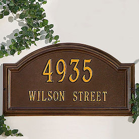 Providence Estate-size Lawn Address Plaques