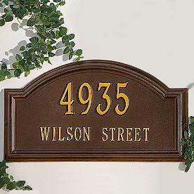 Providence Estate-size Address Plaques