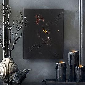 Creepy Cat Canvas