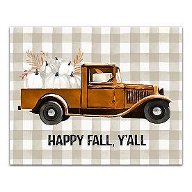 Happy Fall Canvas