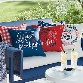 Reversible Patriotic Pillows