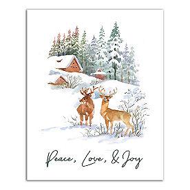 Watercolor Deer Canvas