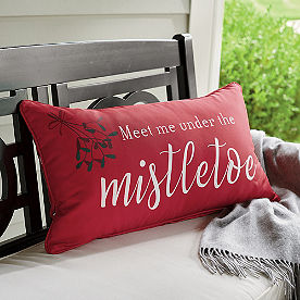 Mistletoe Reversible Lumbar Pillow