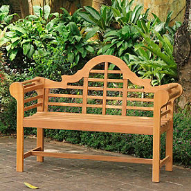 All-natural Teak Lutyens Bench