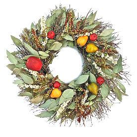 Larkspur Fruit Wreath