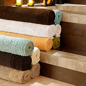 Reversible Egyptian Cotton and Bamboo Bath Rugs
