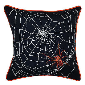 Spider Web Halloween Pillow