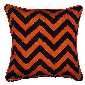 Chevron Diamond Halloween Pillow